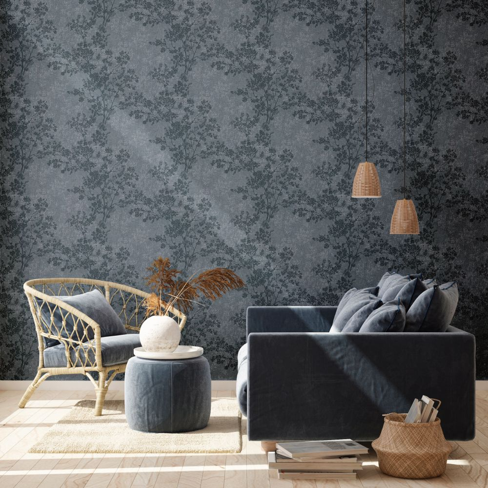 Branches Wallpaper - Denim - by New Walls