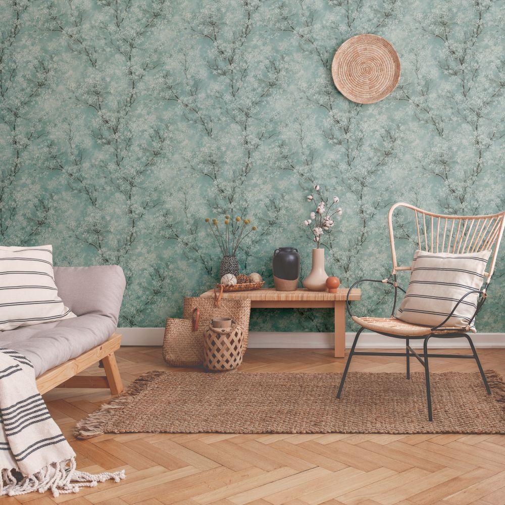 Treescape Wallpaper - Mint - by New Walls