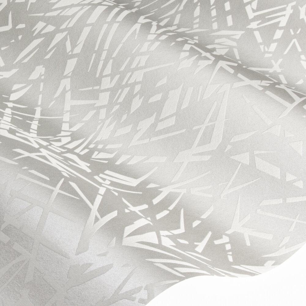 Lorenza Wallpaper - Pewter - by Harlequin