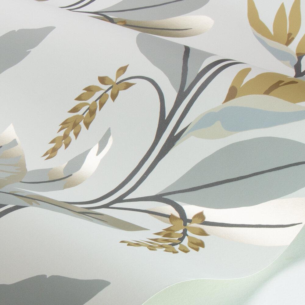 Llenya Wallpaper - Honey / Jet / Jute - by Harlequin