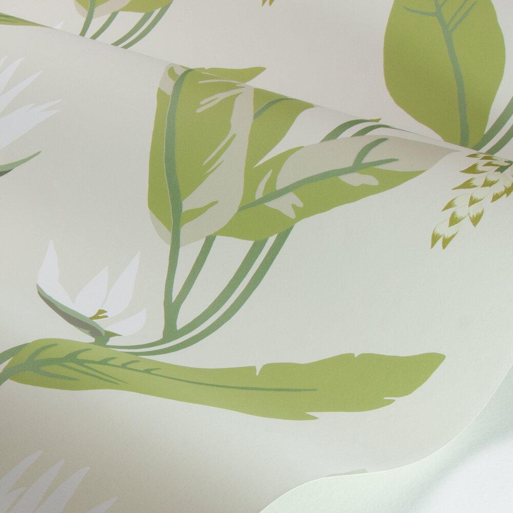 Llenya Wallpaper - Lime / Jade / Pebble - by Harlequin