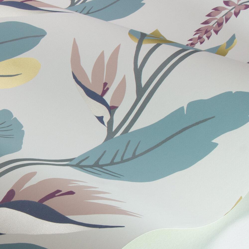 Llenya Wallpaper - Blush / Harbour / Gold - by Harlequin