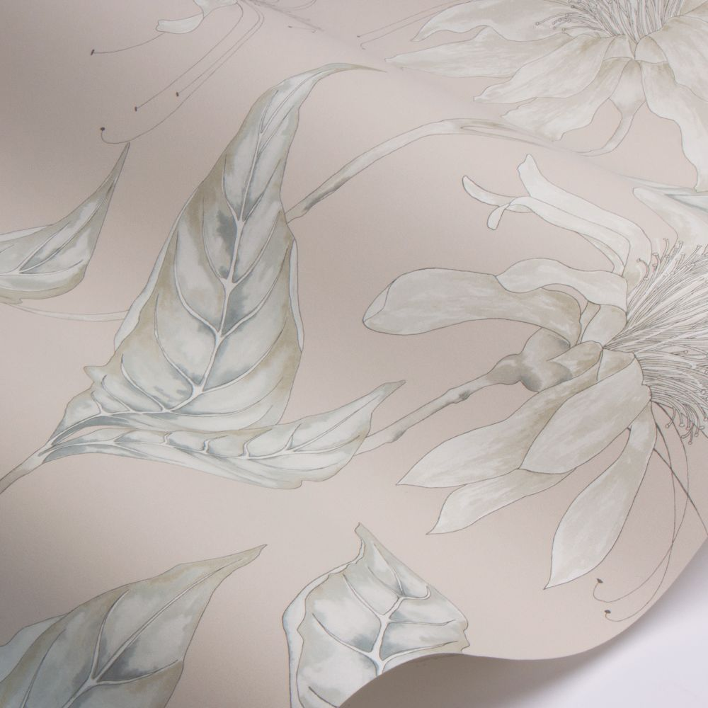 Ananda Wallpaper - Blush - by Harlequin