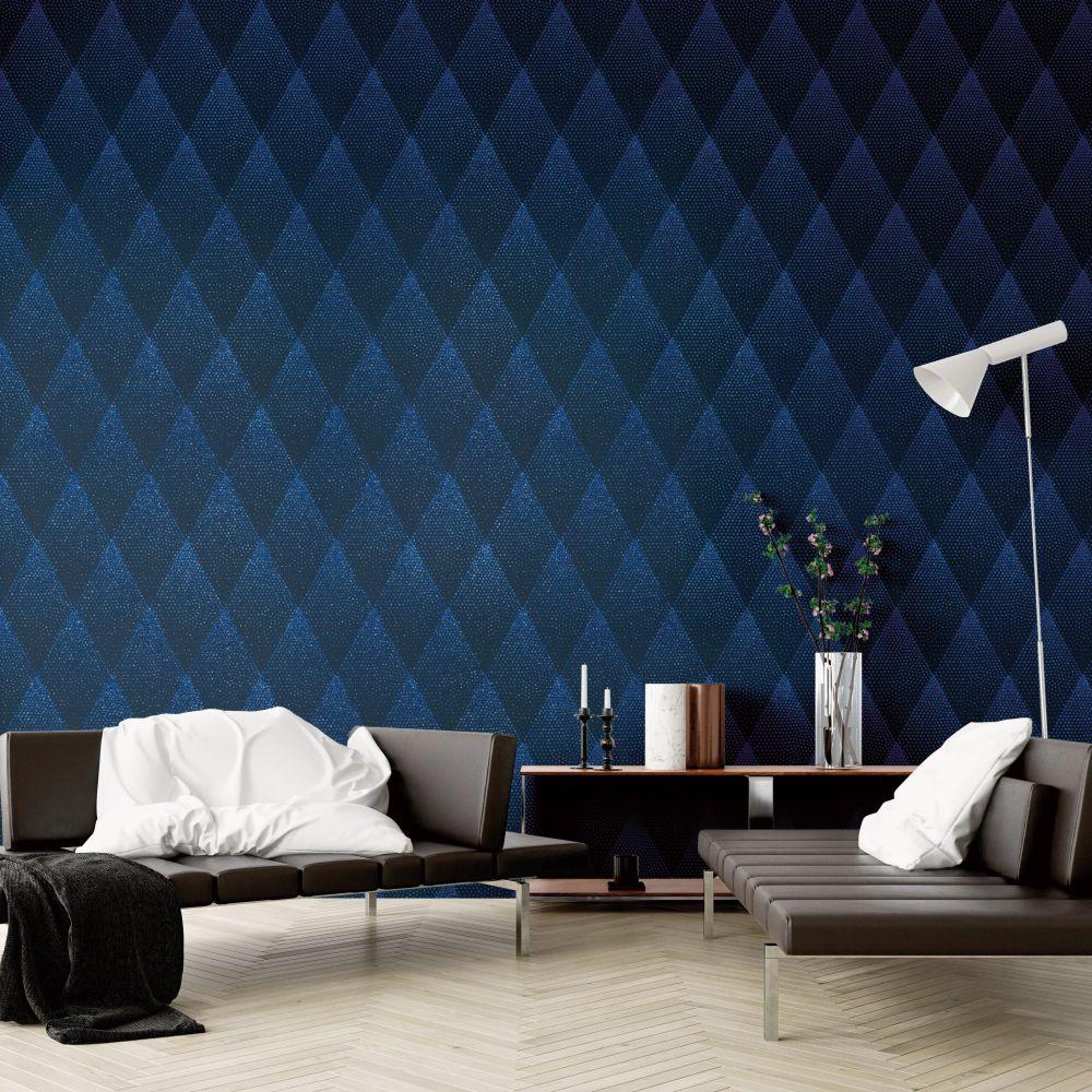 Dazzle Wallpaper - Blue Glitter - by New Walls