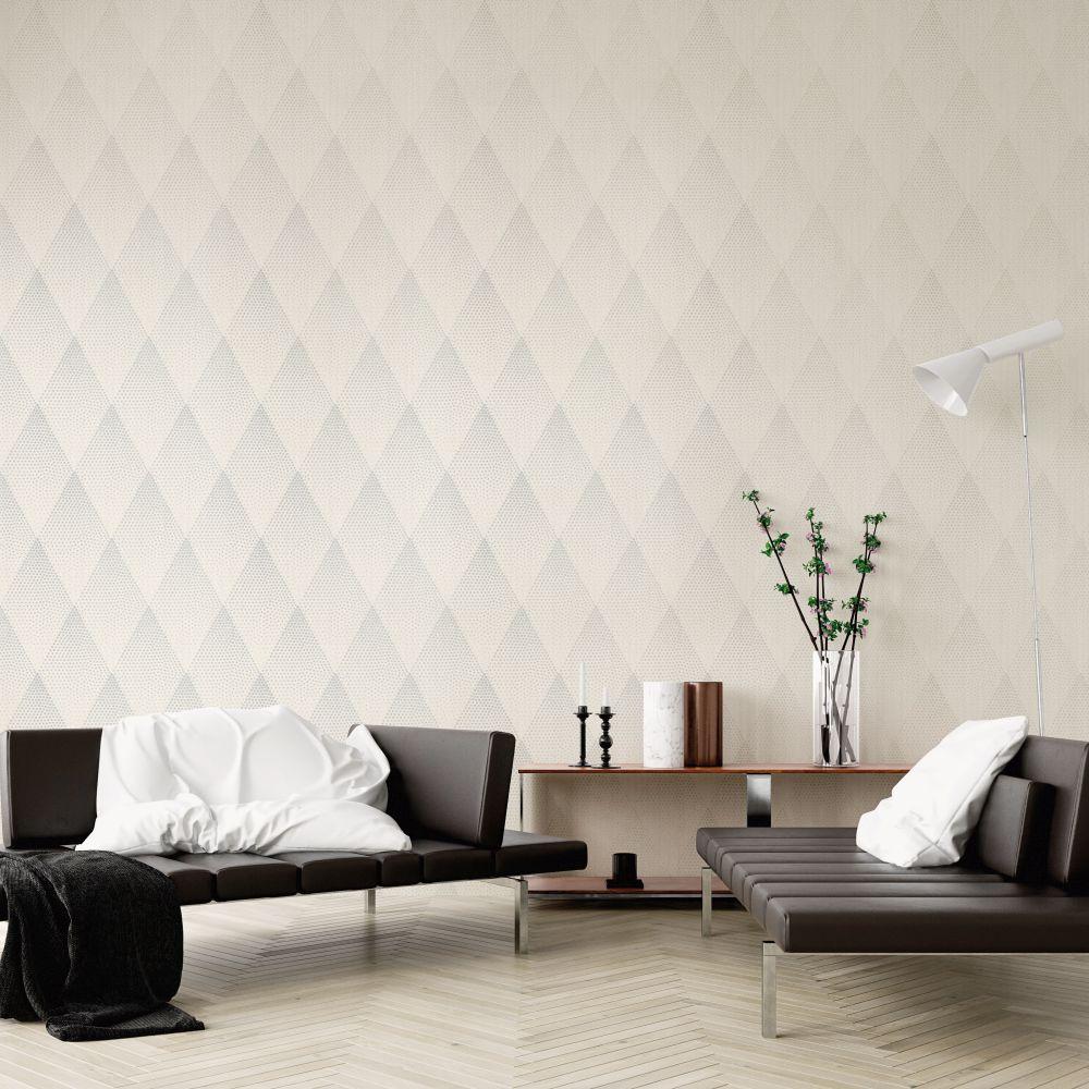 Dazzle Wallpaper - Ivory Glitter - by New Walls