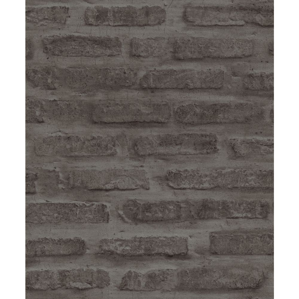 Brick Wallpaper - Ash - by New Walls