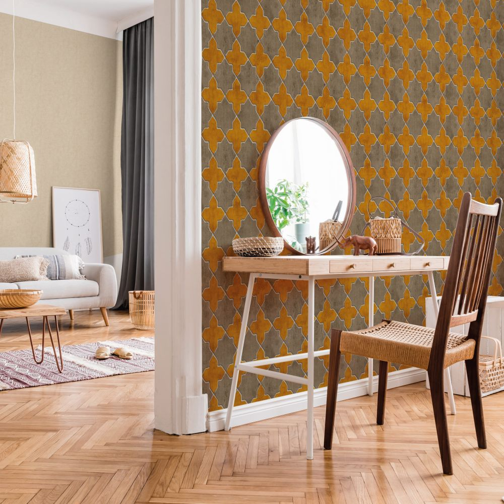 New Walls Mosaic Orange Wallpaper - Product code: 37421-2