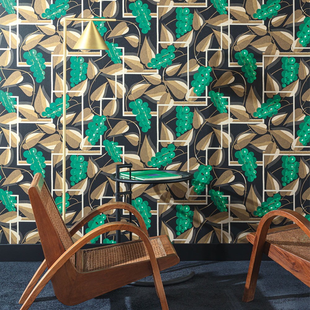 Khrôma by Masureel Henry Emerald Wallpaper - Product code: FOL301