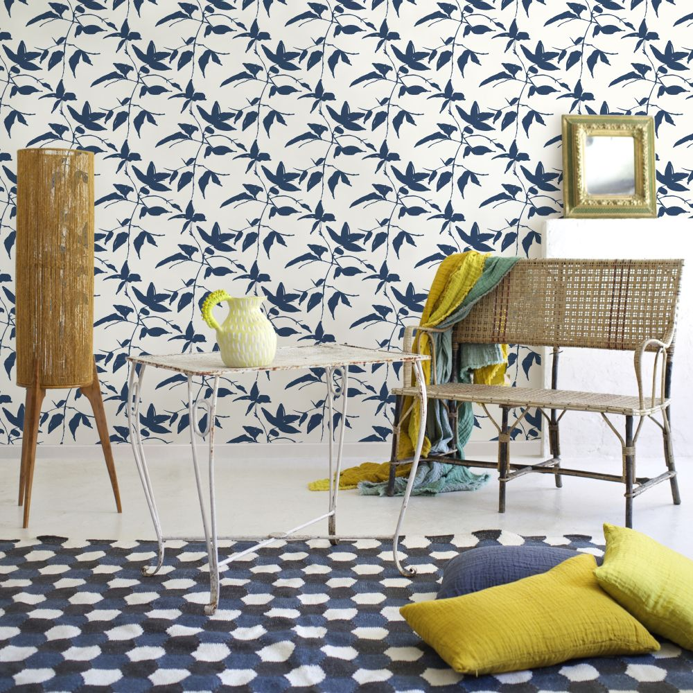 Aware Wallpaper - Blue - by Coordonne