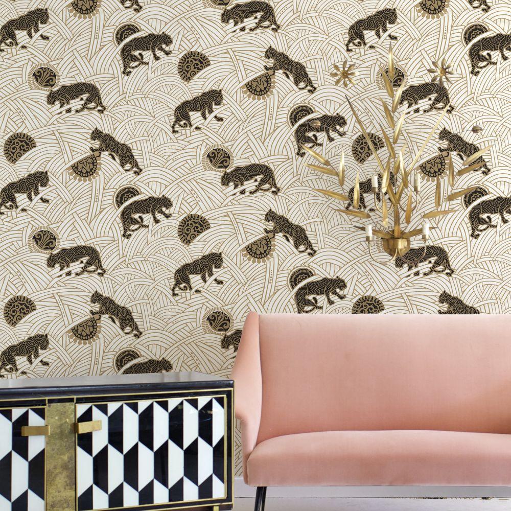 Toka Wallpaper - White - by Coordonne