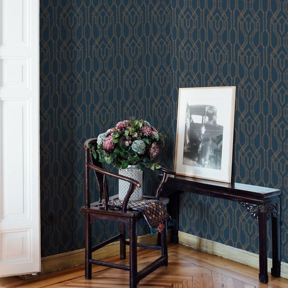 Yugen Wallpaper - Blue - by Coordonne
