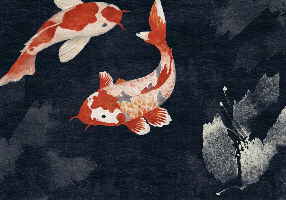 Kawa Mural - Dark - by Coordonne