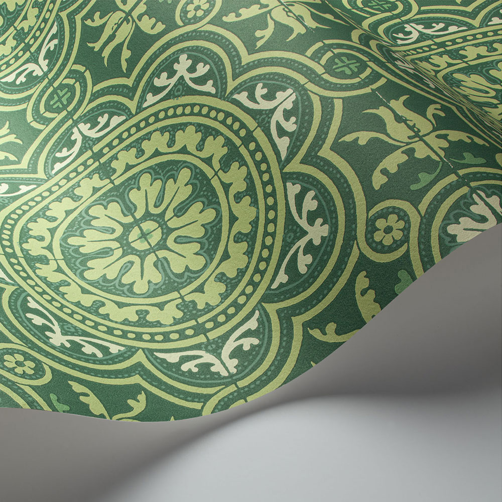 Piccadilly Wallpaper - Leaf Green & Mint on Forest - by Cole & Son