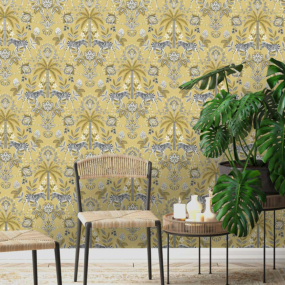 Etosha Wallpaper - Ochre - by Albany