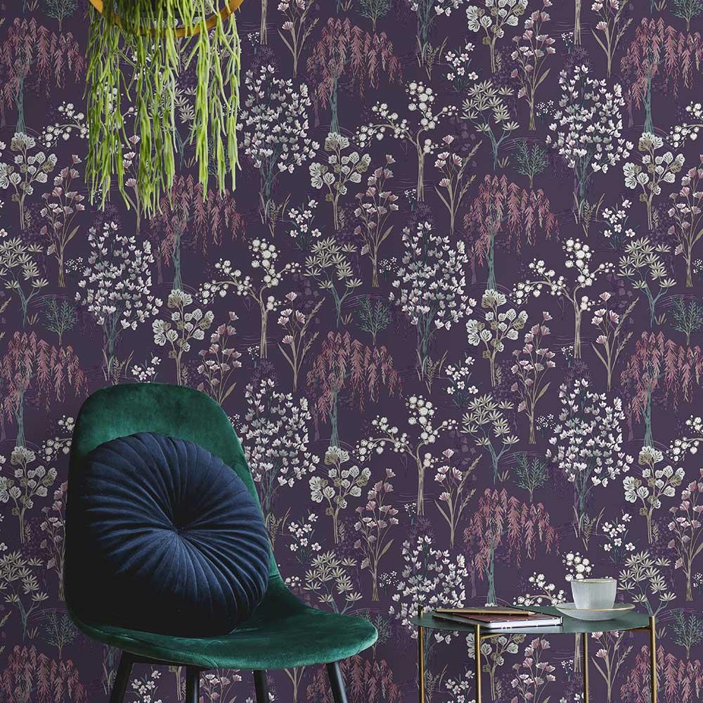 Albany Kieder Purple Wallpaper - Product code: 91132