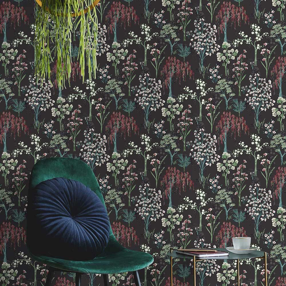 Albany Kieder Charcoal Wallpaper - Product code: 91133