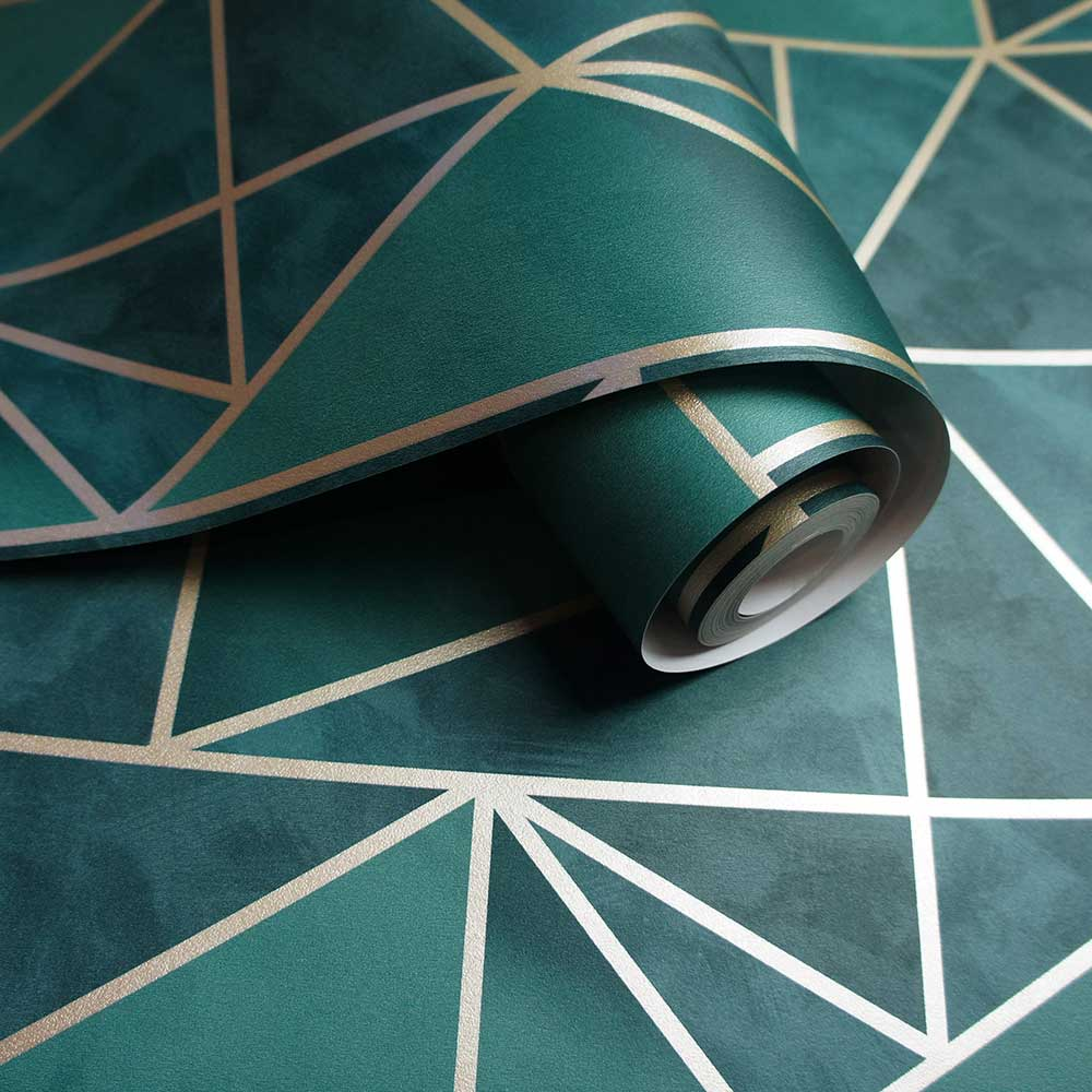 Albany Charon Teal / Gold Wallpaper - Product code: 91141