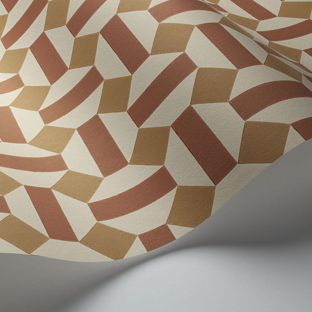 Cole & Son Alicatado Terracotta on Parchment Wallpaper - Product code: 117/12039
