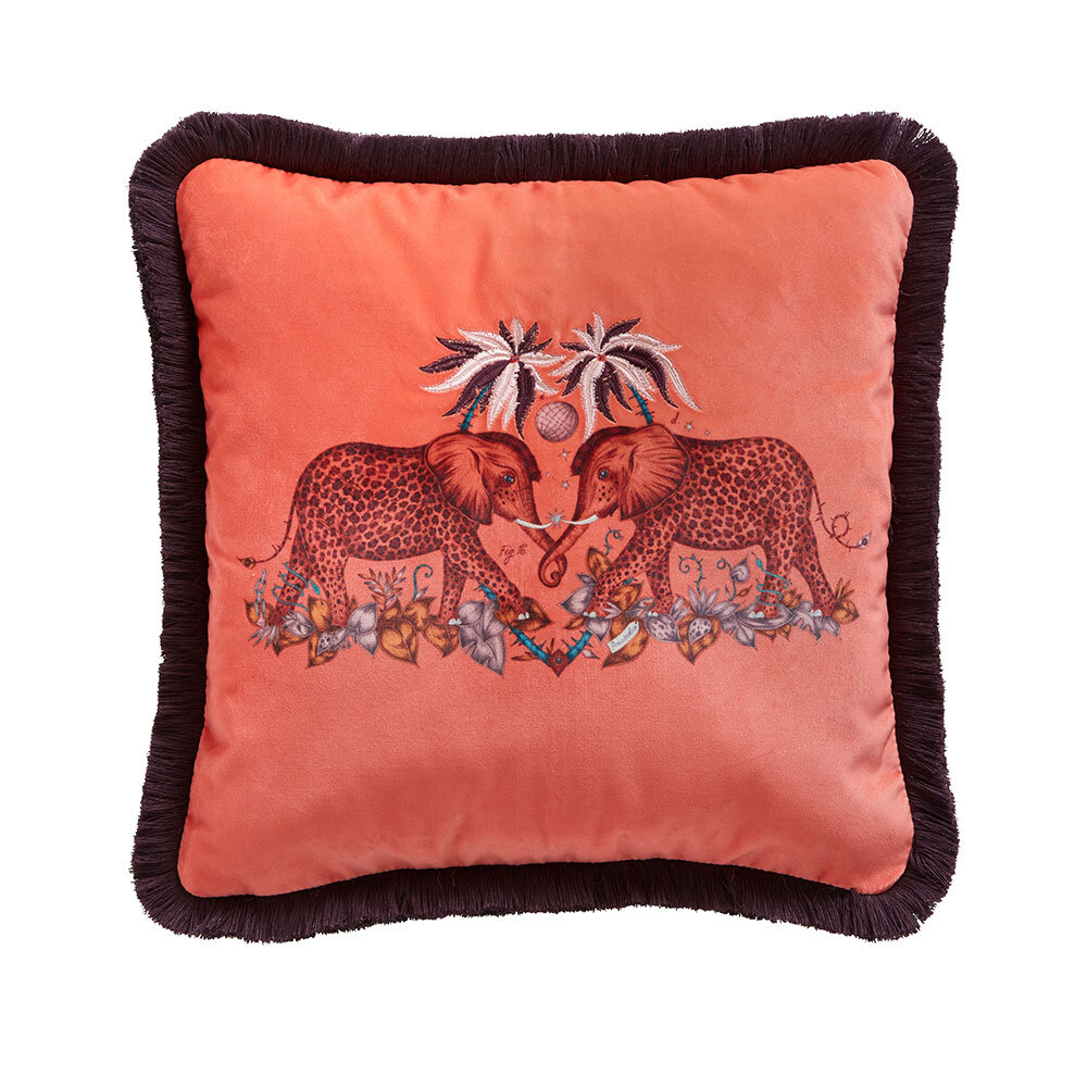 Zambezi Square Cushion - Flame - by Emma J Shipley