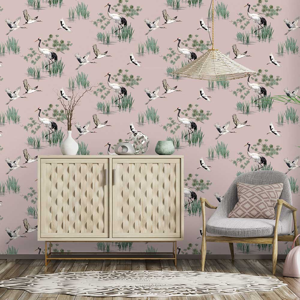Albany Heath Pink Wallpaper - Product code: 91153