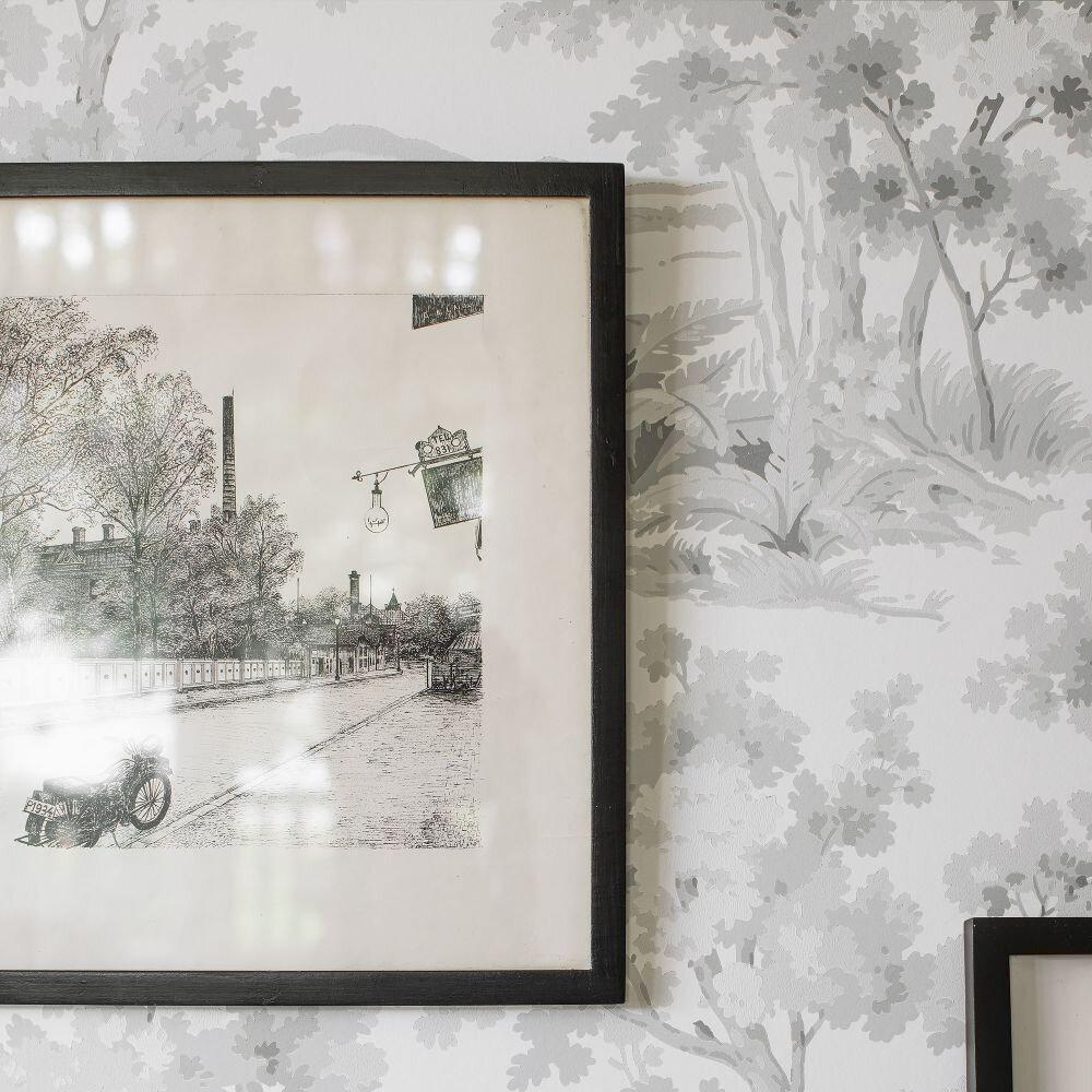 Boråstapeter Countryside Morning Grey Wallpaper - Product code: 7677