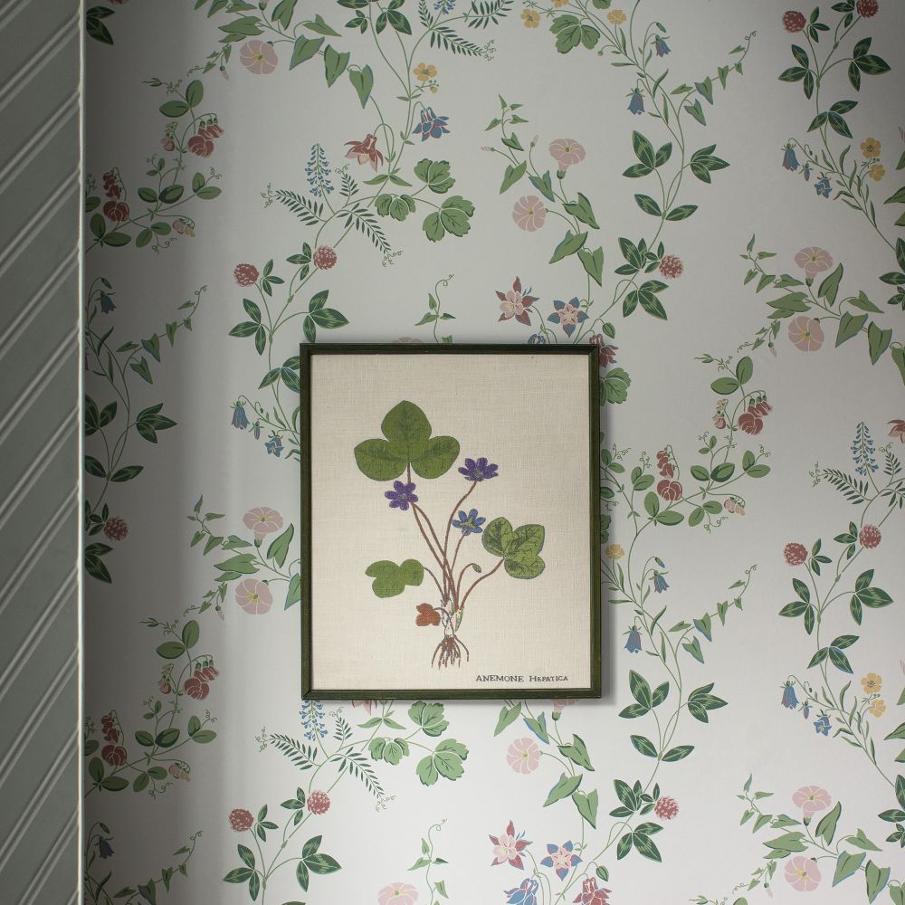 Midsummer Eve Wallpaper - White - by Boråstapeter