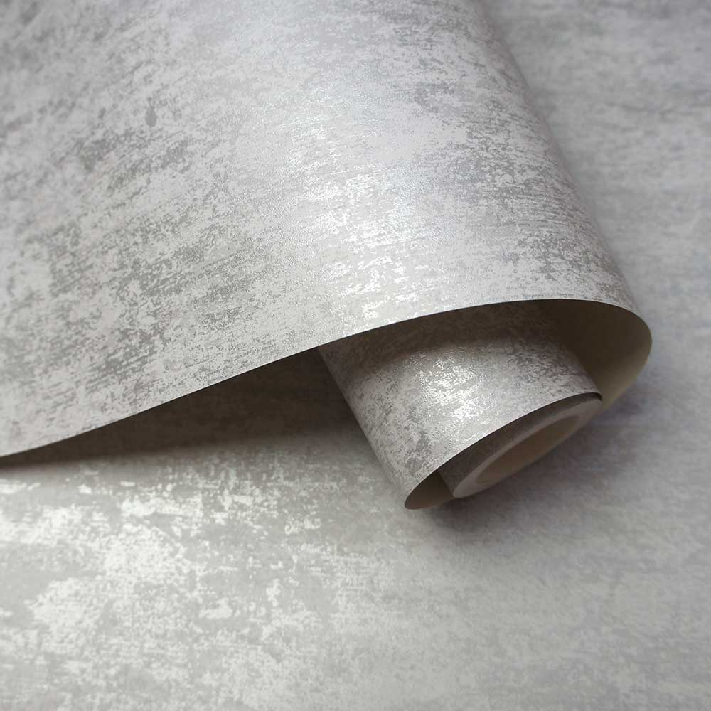 Albany Distressed Metallic Grey Wallpaper - Product code: 91210