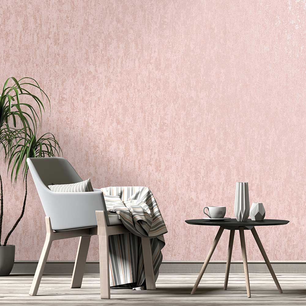 Albany Distressed Metallic Pink Wallpaper - Product code: 91211