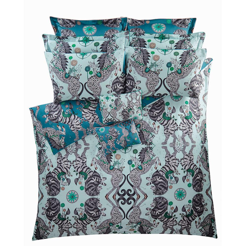Caspian Boudoir Pillowcase  - Aqua - by Emma J Shipley