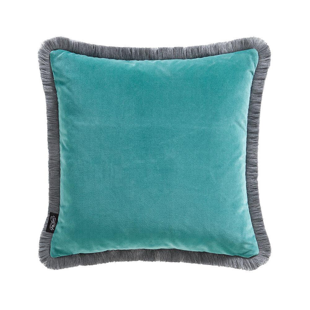 Caspian Square Cushion - Aqua - by Emma J Shipley