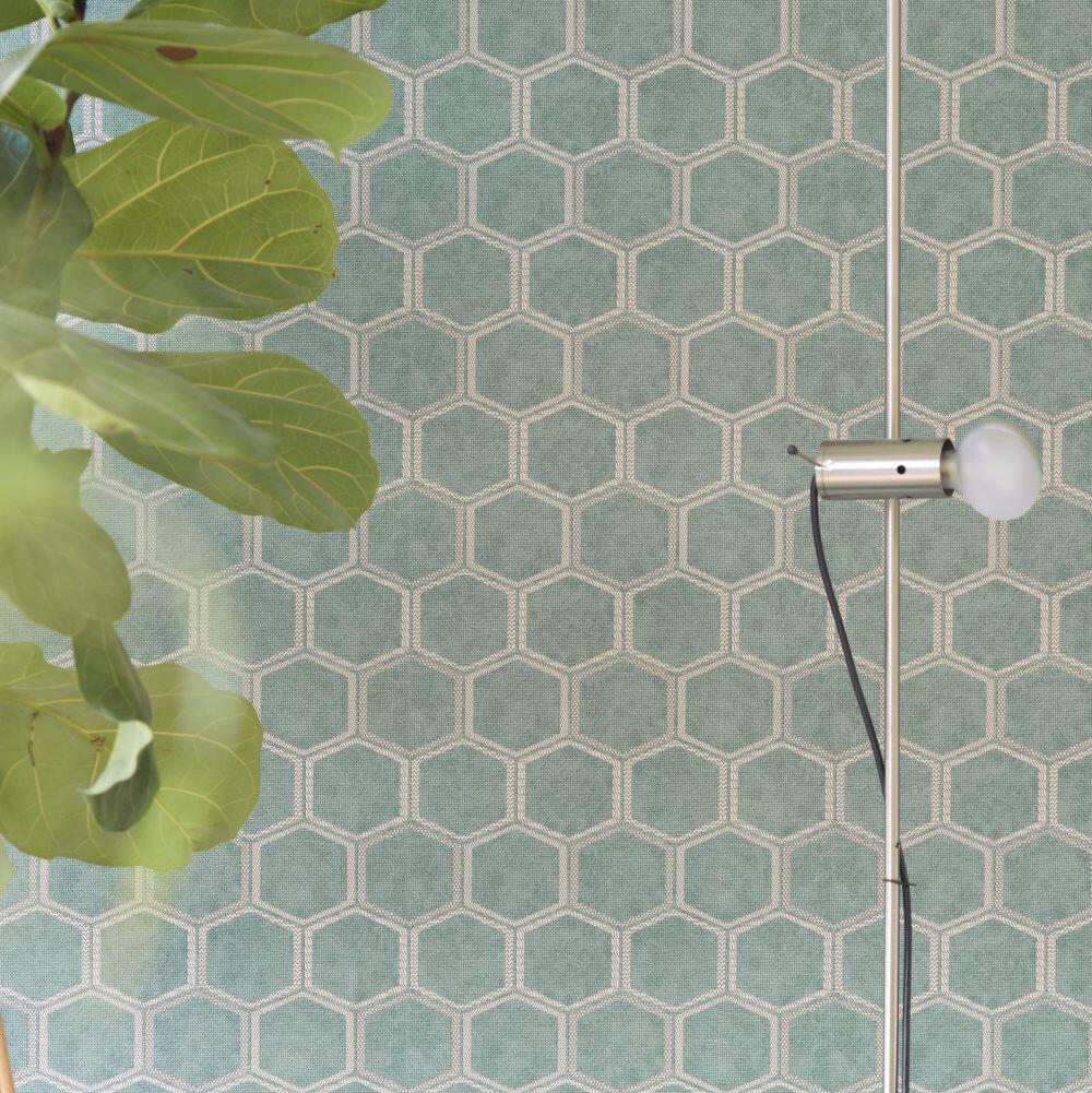 Manipur Wallpaper - Jade - by Designers Guild