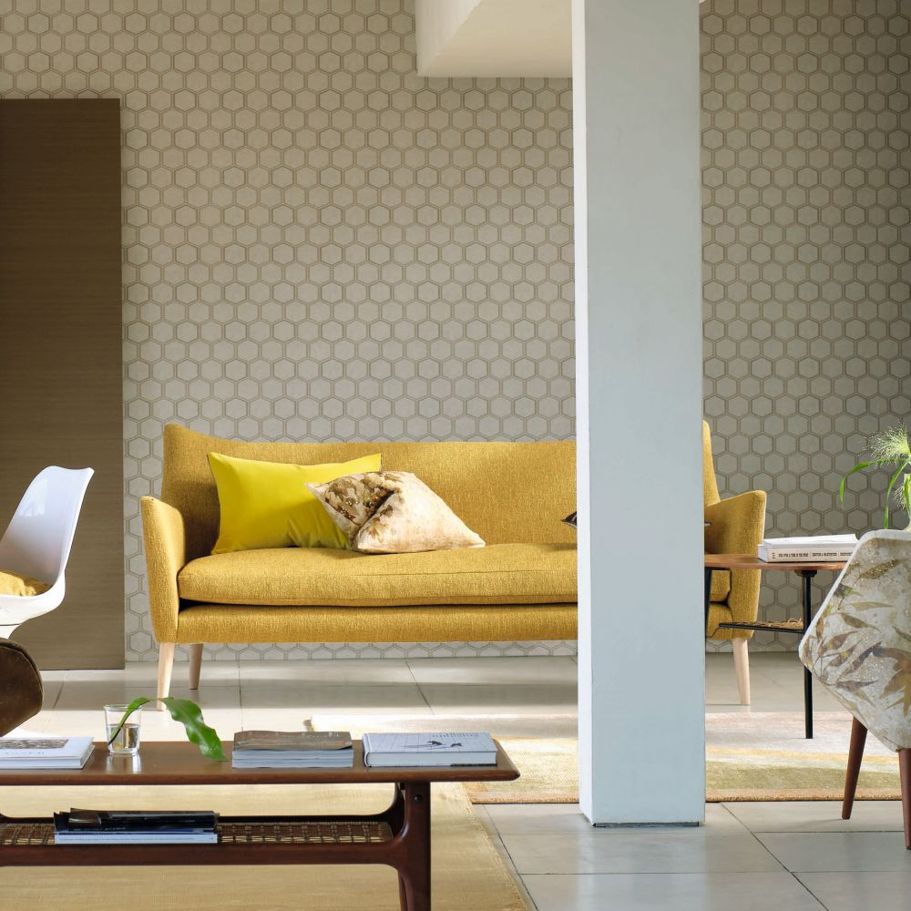 Manipur Wallpaper - Oyster - by Designers Guild