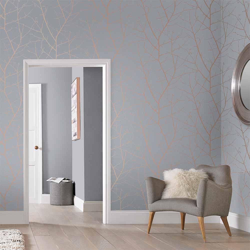 Boreas Wallpaper - Soft Grey - by Graham & Brown