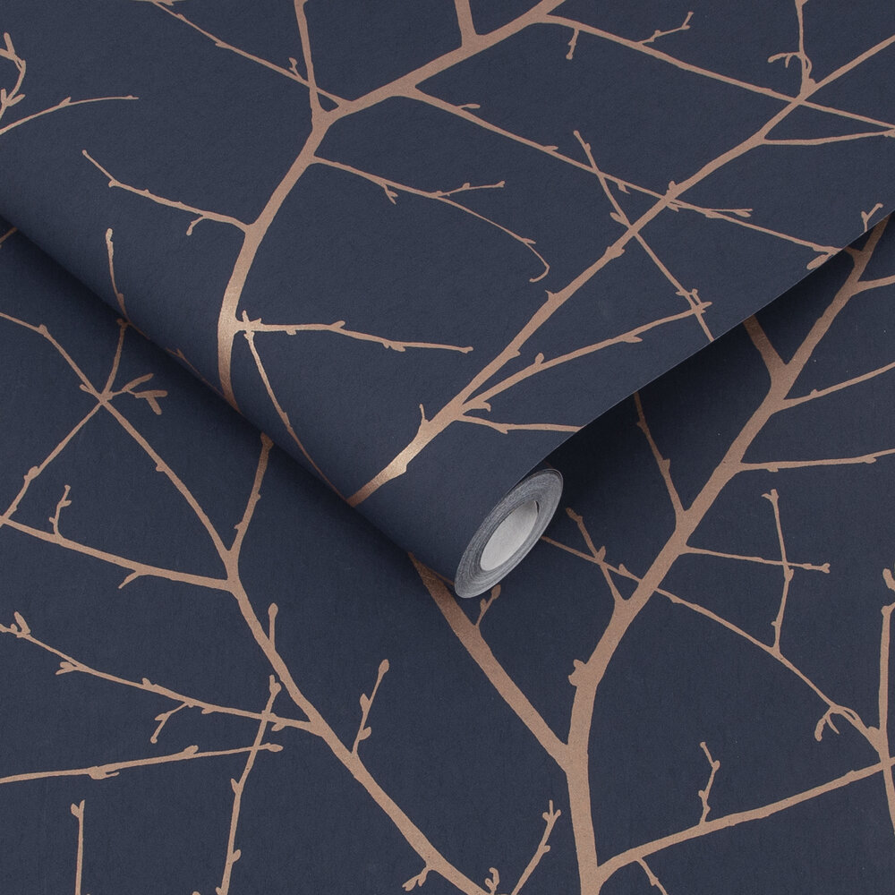 Boreas Wallpaper - Midnight - by Graham & Brown