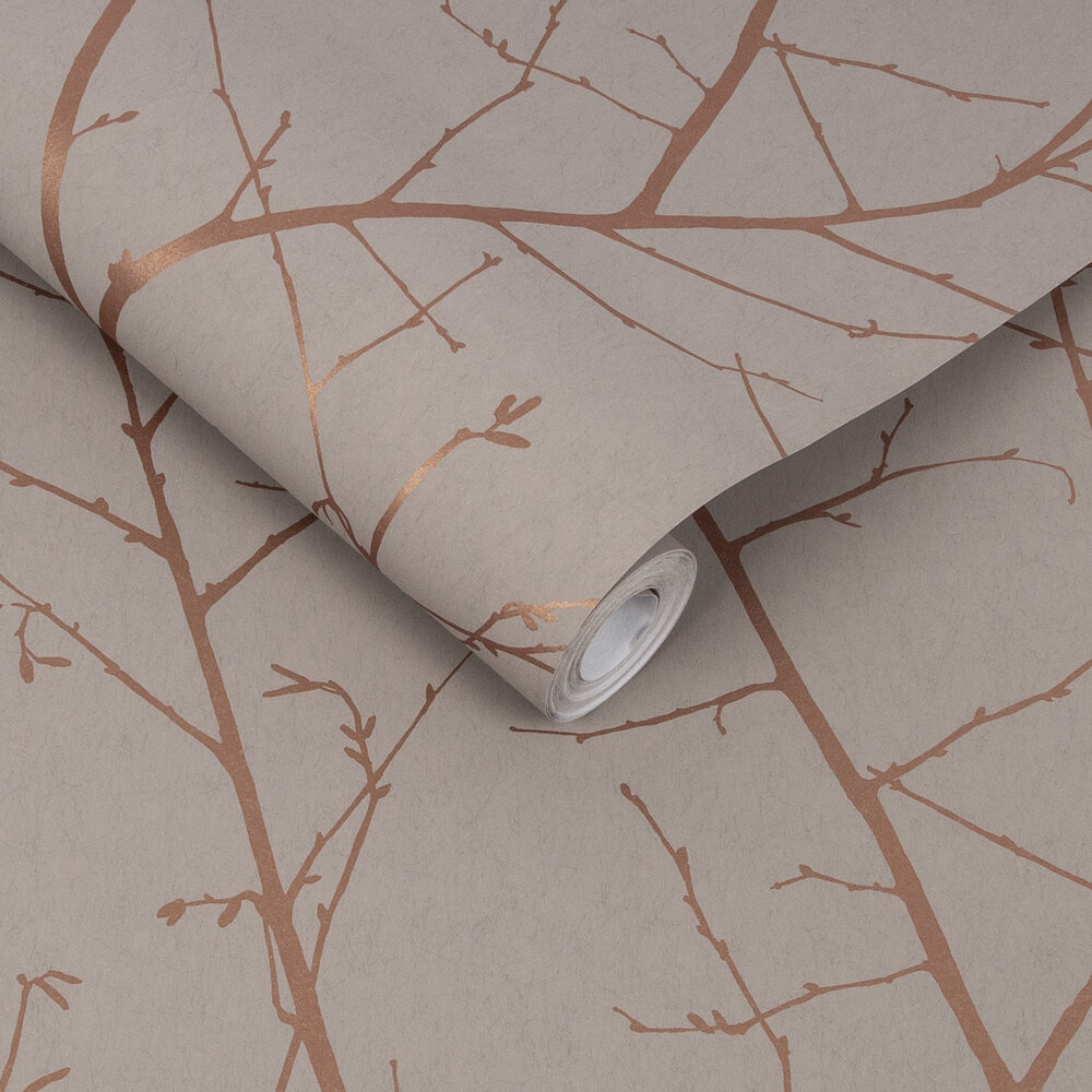 Boreas Wallpaper - Natural - by Graham & Brown