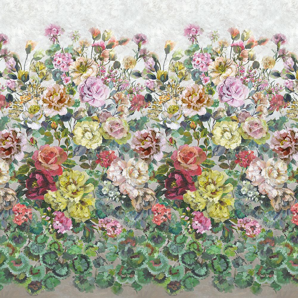Grandiflora Rose Mural - Dusk - by Designers Guild