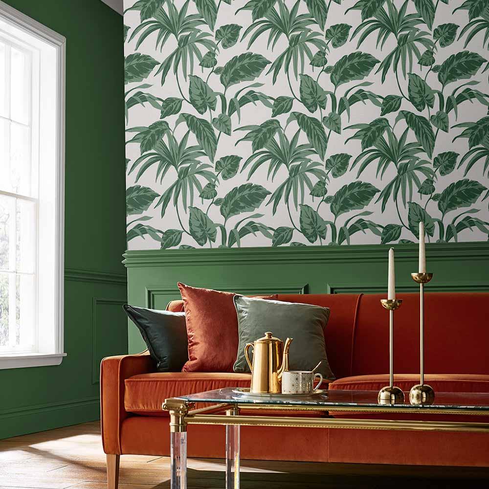 Palma Wallpaper - Chalk - by Graham & Brown