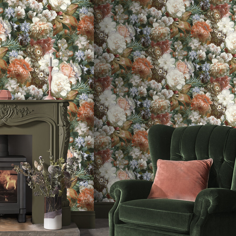 Bouquet Wallpaper - Multi - by Graham & Brown