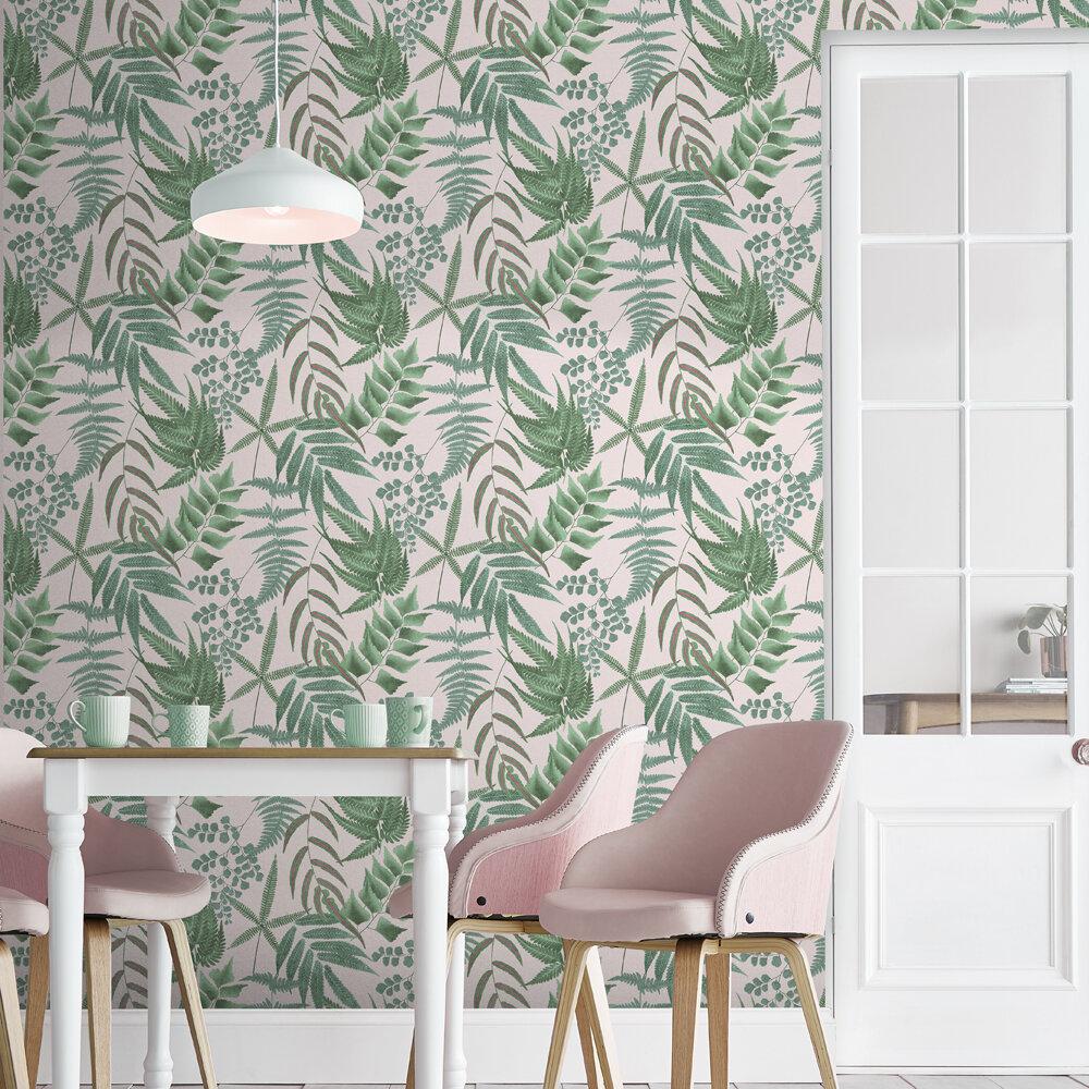 Graham & Brown Midsummer Fern Blush Wallpaper - Product code: 107878