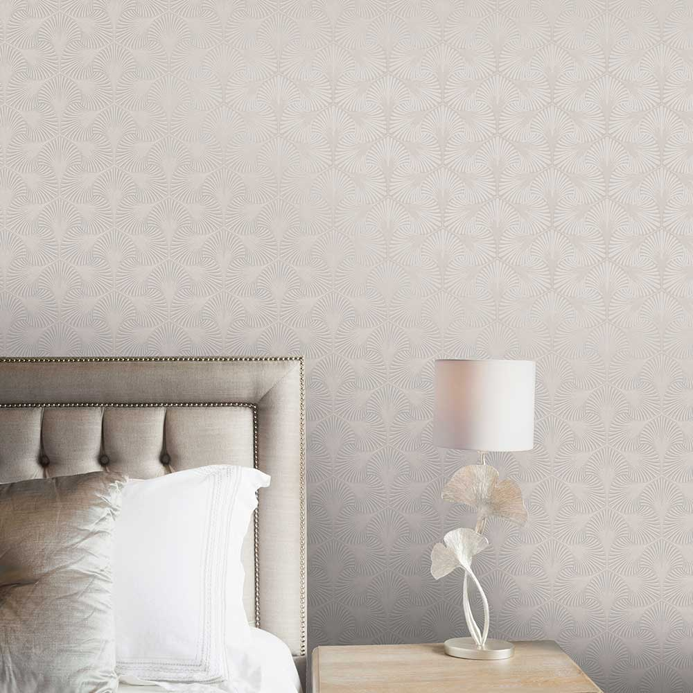 Varano Wallpaper - Taupe - by Albany