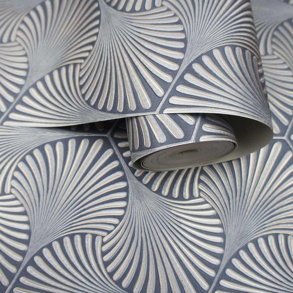 Varano Wallpaper - Navy - by Albany