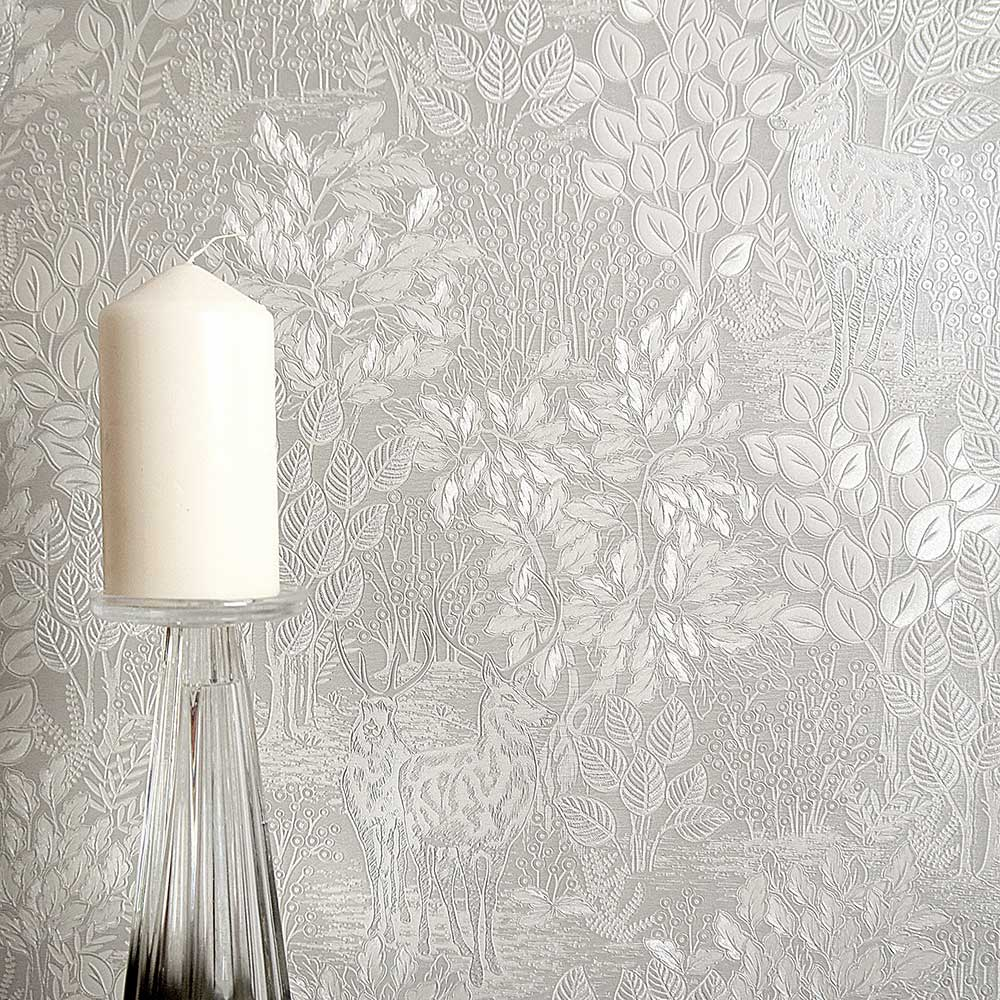 Majella Wallpaper - Grey - by Albany