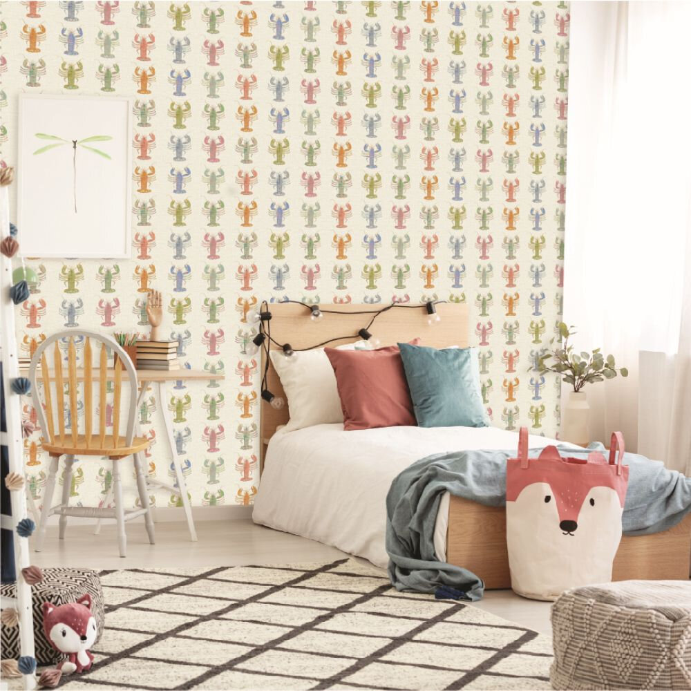 Aruba Wallpaper - Cream - by Elizabeth Ockford