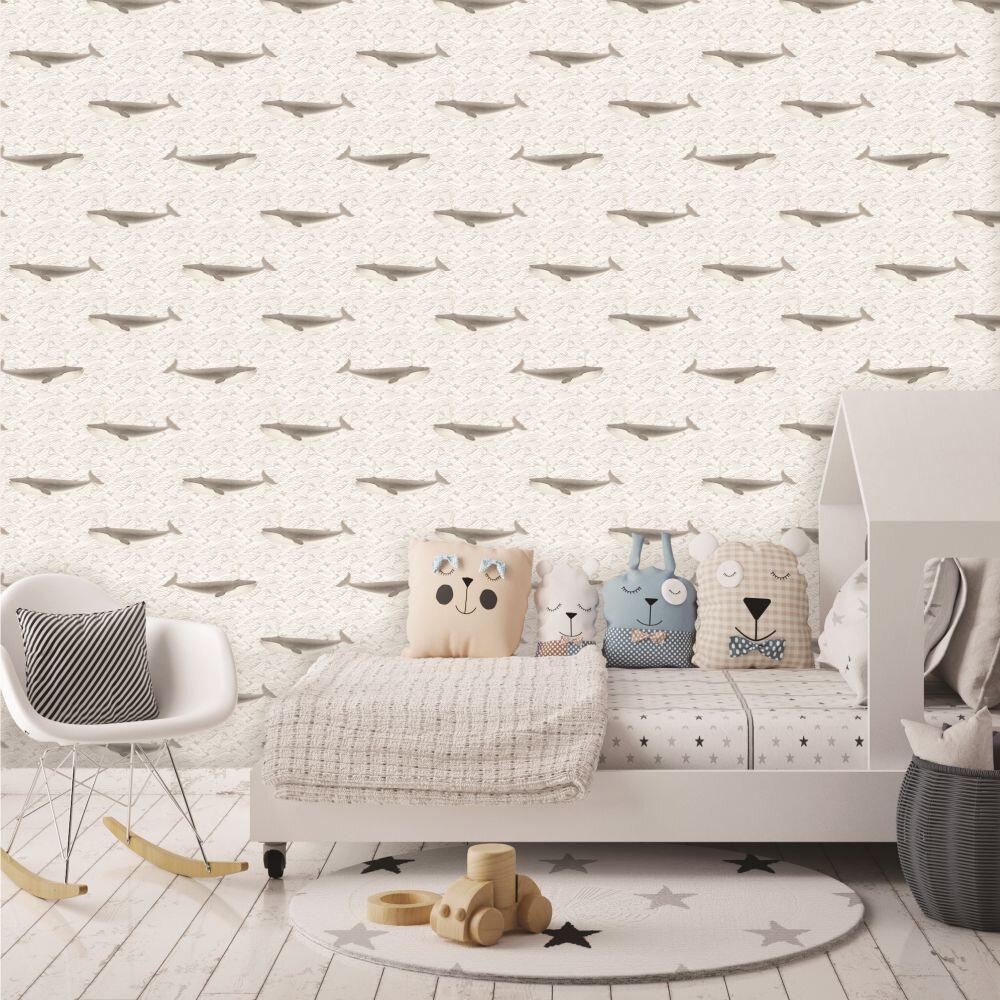 Elizabeth Ockford Faroe Sepia Wallpaper - Product code: W-01064