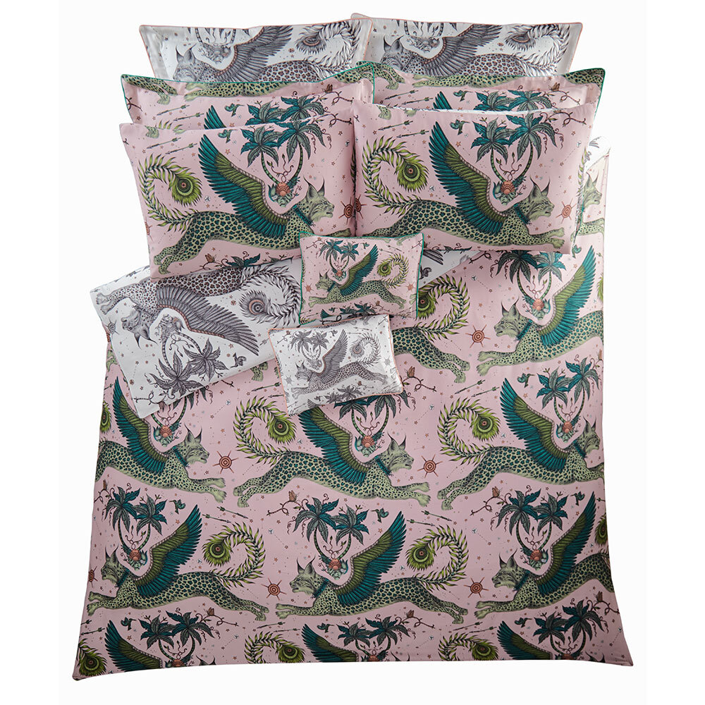 Lynx Boudoir Pillowcase  - White - by Emma J Shipley