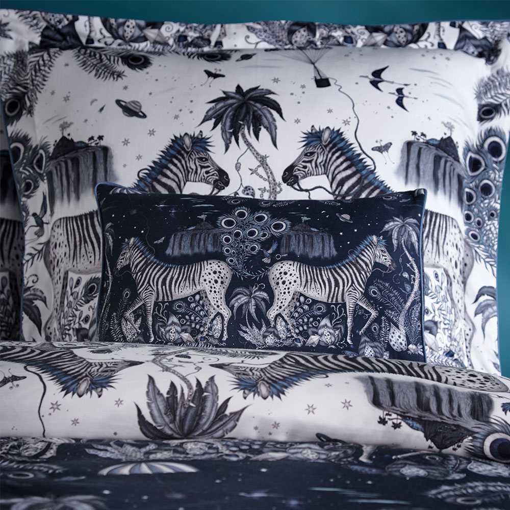 Lost World Boudoir Pillowcase  - Navy - by Emma J Shipley