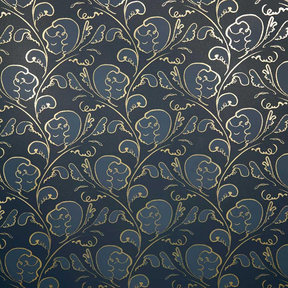 Dream Wallpaper - Gold / Midnight Blue - by Polly Dunbar Decoration