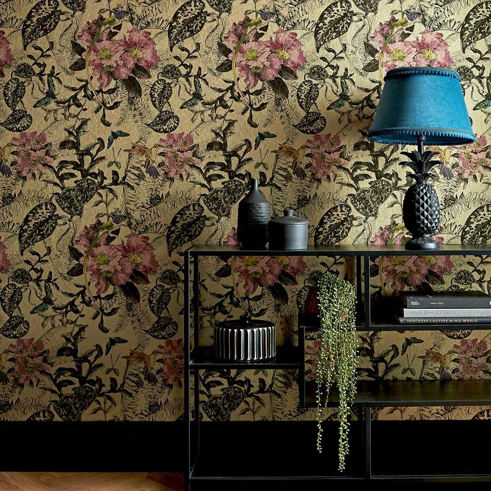 Hedgerow Wallpaper - Bracken - by 1838 Wallcoverings