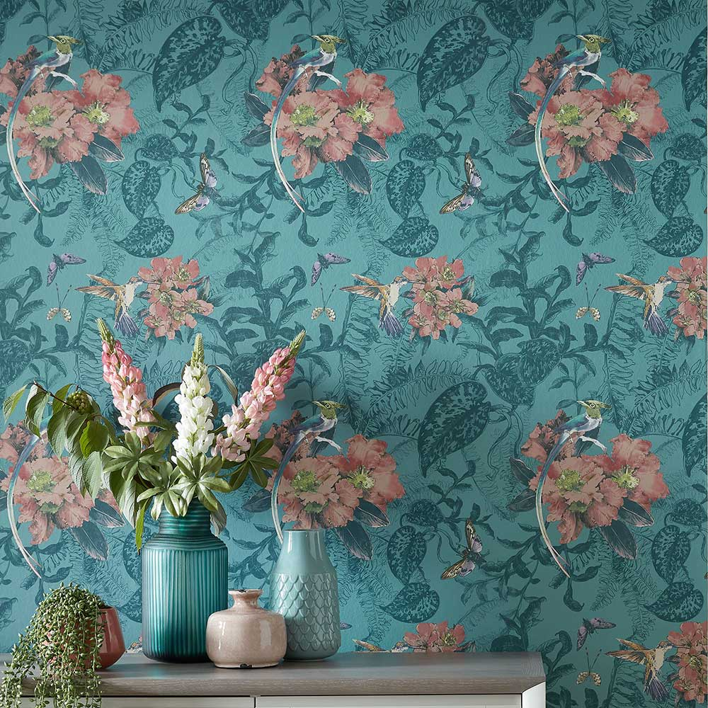 Hedgerow Wallpaper - Mineral - by 1838 Wallcoverings