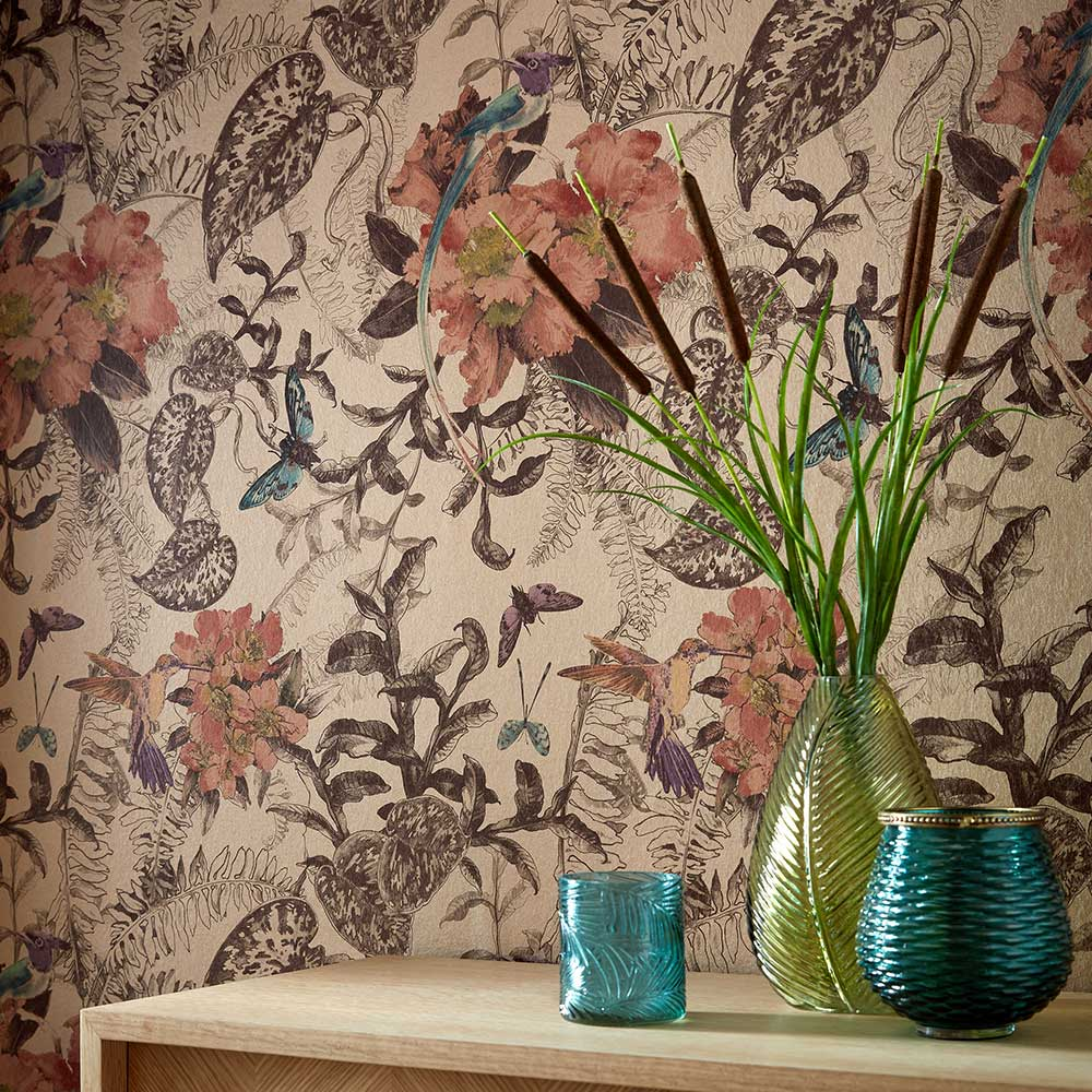 1838 Wallcoverings Hedgerow Copper Wallpaper - Product code: 2008-144-04
